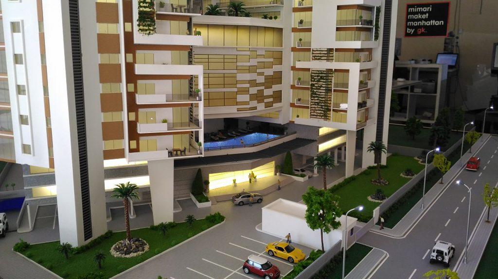Otel Maketi - mimari maket örnekleri